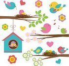 Birdhouse,Young Animal,Bird,Bird's Nest,Tree,Mothers Day,Leaf,Mother,Design Element,Cute,Family,Animal Nest,Branch,Parent,Computer Graphic,Ilustration,Forest,Singing,Flower,Single Flower,Newborn Animal,House,Child,Loving,Season,Springtime,New Life,Flying,Woodland,Vector,Childhood,Digitally Generated Image,Happiness,Offspring,Sitting,Love,Vibrant Color,Decoration,Set,Multi Colored,Blossom,Nature,Heart Shape,Day,Design,Beauty In Nature,Father,Daughter,Embracing