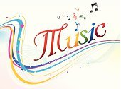 Sheet Music,Text,Music,Backgrounds,Multi Colored,Abstract,Wave Pattern,Vector,Ilustration