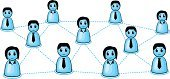 Organization,Social Networking,Blue,People,Internet,The Human Body,Social Gathering,Vector,Ideas,Group Of People,Social Issues,Organized Group,Backgrounds,Abstract,Isolated,Ilustration,Community,Business,Communication,Connection,Partnership,Teamwork,Togetherness,Friendship,Team,Symbol,White,Concepts,Cooperation