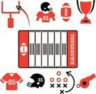 American Football - Sport,Symbol,Football,Whistle,Sports Helmet,Sign,Sport,Ball,Touchdown,Quarterback,Competition