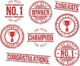 Rubber Stamp,Winning,Success,Number 1,Trophy,Congratulating,Grunge,Competition,Sport,Championship