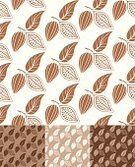 Cocoa Bean,Cacao Fruit,Design Element,Bean,Set,Wallpaper Pattern,Agriculture,Brown,Vector,Backgrounds,White,Pattern