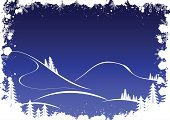 Mountain,Winter,Landscape,Snow,Blue,Tree,Vector,Holiday,Ideas,Silhouette,Concepts,White,Frost,Snowflake,Backgrounds,Copy Space,jack frost,Illustrations And Vector Art,Winter,Time,Nature,Concepts And Ideas
