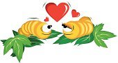 Nature,Insect,Love,Valentine's Day - Holiday,Ilustration,Animated Cartoon