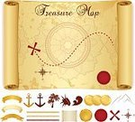 Treasure Map,Map,Cartography,Old,Obsolete,Icon Set,Symbol,Backgrounds,Adventure,Design Element,Footpath,Paper,Exploration,Dirty,Grunge,Treasure,Journey,template,Mountain Range,Seal - Stamp,Red,Compass Rose,Wealth,Old-fashioned,Antique,Fantasy,Outline,Silhouette,Compass,Direction,Retro Revival,Textured,Sketch,Yellow,Brown,Group of Objects,Art,Anchor Chain,Pattern,Seal Wax,Discovery,wind rose,Instructions,Coin,Isolated,Ilustration,Gold Colored,Buried Treasure,Sea Passage,Ancient,Chain,Cross Shape,Design