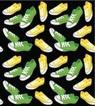 Backgrounds,Shoe,Sports Shoe,Pattern,Seamless,Wallpaper Pattern,Black Color,Yellow,Vector,Ilustration,Computer Graphic,Green Color