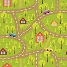 Map,Apartment,Backgrounds,Road,Street,Textured Effect,Image,Architecture,Direction,Tree,House,Wallpaper,City,Textile,Window,Season,Fir Tree,Residential Structure,Dirt,Tower,Car,Vector,Building Exterior,Motion,Effortless,Grass,Ilustration,Multi Colored