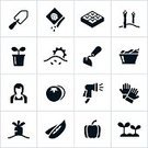 Computer Graphics,Sun,Symbol,Growth,Shovel,Garden Hoe,Garden Hose,Lifestyles,Outdoors,Recreational Pursuit,Spraying,Black Color,Vegetable,Fruit,Cultivated,Sun,Seedling,Seed,Bud,Strawberry,Tomato,Asparagus,Carrot,Bell Pepper,Sunlight,Computer Icon,Computer Graphic,Adult,Gardening,Planting,Green Pea,Vegetable Garden,Illustration,Watering,Females,Women,Leisure Activity,Vector,Gardening Glove,Landscape Gardener,Garden Shovel,Icon Set