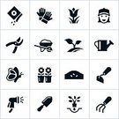 Symbol,Gardening,Computer Icon,Icon Set,Garden Hose,Flower Bed,Black Color,Butterfly - Insect,Landscaped,Landscape Gardener,Seed,Vector,Sowing,Computer Graphic,Growth,Outdoors,Garden Hoe,Gardening Glove,Cultivated,Flower,Seedling,Shovel,Potting,Rake,Spraying,Women,Female,Watering,Garden Shovel,Pruning,Leisure Activity,Recreational Pursuit,Planting,Wheelbarrow,Watering Pot,Pruning Shears,Bud