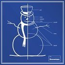 Christmas,Snowman,Blueprint,Holiday,Bizarre,Snow,Winter,Plan,Ideas,Label,Planning,Concepts,Christmas Decoration,Vector,Drawing - Art Product,Scarf,Blue,Twig,Frozen,Ilustration,Christmas,Illustrations And Vector Art,Holidays And Celebrations