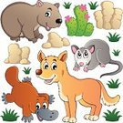 Young Animal,Dingo,Vector,Duck-Billed Platypus,Cartoon,Australia,Animal,Animal Themes,Happiness,Set,Wombat,Opossum,Variation,Stone,Wildlife,Mammal,Computer Graphic,Looking,Canine,Zoo,Smiling,Rock - Object,Nature,Ilustration,Zoology,Collection,Drawing - Art Product,Design Element,Isolated,Clip Art,Cute,Design