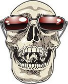 Sunglasses,Human Bone,Monster,Dead Person,Halloween,Black Color,White,Medicine And Science,Gothic Style,Spooky,Anatomy,Art