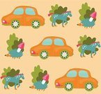Forest,Animal,Woodland,Car,Seamless,Hedgehog,Horse,Cute,Happiness,Pattern,Mushroom,Beige