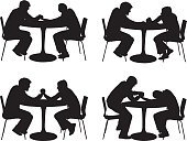 Cut Out,Computer Graphics,People,Strength,Casual Clothing,Friendship,Love,Chair,Table,Bonding,Togetherness,Competition,Horizontal,Full Length,Black And White,Side View,Profile View,Affectionate,Standing,Sitting,Holding,Holding Hands,Heterosexual Couple,Restaurant,Cafe,Black Color,Silhouette,Arm Wrestling,Adult,Multiple Image,Cut Out,Outline,Fist,Gripping,Illustration,Battle Of The Sexes,Two People,Males,Men,Females,Women,Vector,White Background,Adults Only,Couple - Relationship,Girlfriend,Boyfriend,Clip Art,Strong Arm,Silhouette