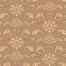 Pattern,Floral Pattern,Seamless,Digitally Generated Image,Brown,Backgrounds,Ilustration,Design,Beige,Ornate,Beauty And Health,Vector,Wallpaper Pattern,Vector Florals,Vector Backgrounds,Fashion,Illustrations And Vector Art