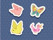 Paper,Backgrounds,Butterfly - Insect,Bird,Animal,Flying,Label,Group Of Animals,Series,Single Object,Outline,Large Group Of Animals