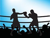 Silhouette,Boxing,Boxing Ring,Sport,Fighting,Happiness,Fan,Crowd,Punching,Gesturing,Defending,Backgrounds