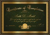 Certificate,Diploma,template,Frame,Picture Frame,Finishing,Elegance,Award,Gold Colored,Green Background,Gift Certificate,Dark,Best In Show,Nobility,Invitation,Graduation,Banner,Blank,Second Place,Insignia,Design,Decoration,guilloche,Success,First Place,Pattern,Achievement,Intricacy,premium,Complexity,Education,Badge,Retro Revival,Winnings,Vignette,Medal,Old-fashioned,Horizontal,Ornate,Test Results,Text,Vector,Watermark,Luxury,Scroll Shape,Winning