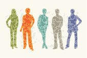 Business,Abstract,Silhouette,Recruitment,Meeting,Ilustration,People,Teamwork,Group Of People,Communication,Symbol,Occupation,Discussion,Team,Icon Set,Cooperation,Community,Social Networking,Vector,Employment Issues,Computer Icon