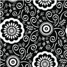 Pattern,Black Color,Flower,Floral Pattern,White,Seamless,Backgrounds,Modern,Retro Revival,Vector,Textile,1940-1980 Retro-Styled Imagery,Black And White,Wallpaper Pattern,Swirl,Design,Decoration,Old-fashioned,Ornate,Monochrome,Ilustration,Antique,Art,Nostalgia,Fashion,Illustrations And Vector Art,Full Frame,Beauty And Health