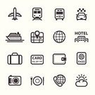 Symbol,Exploration,Train,Icon Set,Ilustration,Appointment,Bag,Book,Translation,Camera - Photographic Equipment,Telephone,Summer,Sun,Dinner,Cruise Ship,Tourist,Hotel,Table Knife,Bus,Passport,Weather,Backgrounds,Direction,Journey,Vacations,Domestic Room,Calendar Date,Cruise,Pocket,Fork,Nautical Vessel,Travel,White Background,Suitcase,Airplane,Map,Restaurant,Earth,Taxi