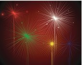 Firework Display,new-year,Backgrounds,Celebration,Vector,Ilustration