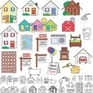 House,Religious Icon,Residential Structure,Apartment,Symbol,Real Estate,Beach House,Built Structure,Cottage,Toilet,Bathtub,Bed,Swimming Pool,Real Estate Sign,Icon Set,Vector,Holiday Villa,Car,Semi-Detached House,rental,Set,Garage,Ilustration,Barn,Townhouse,Washing Machine,Silo,Bungalow,Building Exterior,For Sale,Shower Head,House Key,Key Ring,Dryer,For Sale By Owner,colored icons,Open House Sign,Business,Illustrations And Vector Art,White Background