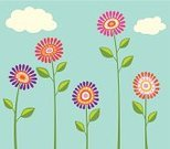Single Flower,Flower,Simplicity,Computer Graphic,Ilustration,Floral Pattern,Abstract,Vector,Collection,Orange Color,Springtime,Sky,Nature,Petal,Purple,Vibrant Color,Multi Colored,Leaf,Blue,Summer,Cloud - Sky,Set,Pink Color,Red,Fantasy,Bright,Yellow,White,Backgrounds