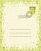 Easter,Postage Stamp,Green Color,Retro Revival,Dirty,Ilustration,Easter Egg,Old-fashioned,Springtime,Letter,Vector,Textured,Postmark,Time,Text,Mail,Spring,Nature,Illustrations And Vector Art,Concepts And Ideas,Season,Textured Effect
