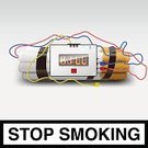 Bomb,Smoking,Smoking Issues,Killing,Healthy Lifestyle,Healthcare And Medicine,Narcotic,Rudeness,Death,Unhygienic,Ideas,Tobacco Crop,Stop,Concepts,Dynamite,Isolated,Nicotine,Sign,Timer,Detonator,Toxic Substance,Single Object,Danger,Bomber Plane,Cigarette,Isolated On White,Warning Sign,Cable,Tobacco Product,Rebellion,Cross Shape,Illness,Risk,Backgrounds,Addiction,Stop Sign