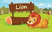 Land,Animal,Fence,Sign,Clip Art,Lion - Feline,Nature,Enclosure,Zoo,Wood - Material,Wildlife,Mascot