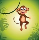 Tropical Rainforest,Safari Animals,Cartoon,Monkey,Ape,Zoo,Child,Human Face,Clambering,Wildlife,Animal,Toy,Forest,Vector,Young Animal,Playful,Laughing,Tree,Joy,Performance,Dancing,Multi Colored,Fun,Smiley Face,Nature,Cute,Innocence,Chimpanzee,Brown,Smiling,Happiness,Tropical Climate,Plant,Humor,Action,Outdoors,Drawing - Art Product,Characters,Cheerful,Mammal,Ilustration,Animals In The Wild