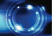Circle,Abstract,Technology,Backgrounds,Glowing,Vector,Style,Design,Blue,Frame,Ornate