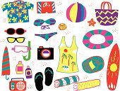 Beach Towel,Beach Party,Beach Ball,Beach,Moisturizer,Snorkel,Camera - Photographic Equipment,Shade,Inner Tube,Starfish,Umbrella,Stereo,Island,Indigenous Culture,Luggage,Suntan Lotion,Tan,Sand,Sunglasses,Swimming Trunks,Swimming,Vacations,Surfboard,Exoticism,Multi Colored,Hat