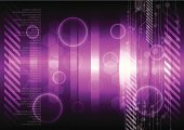 Backgrounds,Technology,Purple,Design,Style,Digitally Generated Image,Abstract,Vector,Science