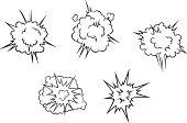 Conflict,Cloud - Sky,Cartoon,Exploding,Humor,Deflated,Pattern,Smoke - Physical Structure,Crash,Space,Computer Graphic,Accident,War,Single Word,Smoking,Retro Revival,Vector,Facial Expression,Symbol,Bang,Bombing,Backgrounds,Set,White,Danger,Large,Boom,Label,Bomb,Dynamite,Design,Isolated,Fun,Energy,Design Element,Warning Sign,Part Of,Power,Abstract