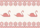 Scandinavian Culture,Pattern,Vector,Christmas Decoration,Ornate,Fashion,Ilustration,Retro Revival,Christmas,Season,Swan,Textured Effect,Swedish Culture,Embroidery,Norway,Winter,Decoration,Clothing,Cultures,Wool,Knitting,Repetition,Backgrounds,Effortless,Norwegian Culture
