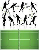 Tennis,Silhouette,Adolescence,Female,Muscular Build,Back Lit,Women,Teenage Girls,Athlete,Little Boys,Little Girls,Relaxation Exercise,Ilustration,Volleying,Women's Tennis,creative element,Racket,Youth Culture,Shadow,Expertise,Creativity,Sport,Design,People,Exercising,Teenager,Playing,Hitting,Diagram,Tennis Ball,Illustrations And Vector Art,Professional Occupation,Professional Sport,Sports Team,Team,vector silhouette,Ball,Black Color,Teamwork,Group of Objects,Group Of People,Symbol,Vector,Playful,Serving,Computer Icon,tennis court