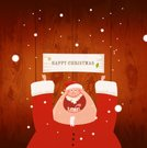 Christmas,Santa Claus,Human Teeth,Sign,Snow,Billboard,Wood - Material,Pattern,Winter,Smiling,Ilustration,Sticking Out Tongue,Cheerful,Human Eye,Friendship,Happiness,Costume,Hat,Human Tongue,Illustrations And Vector Art,Cold - Termperature,Character Traits,handcarves,Vector Cartoons,Concepts And Ideas,carved letters,Holidays And Celebrations,Christmas