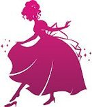 Princess,Cinderella,Silhouette,Evening Ball,Shoe,Women,Magic,Cartoon,Dress,Pink Color,Evening Gown,Cut Out,Fairy Tale,Dreamlike,White Background,Image,Beauty,Clip Art,Vector,Fantasy,Young Adult,Ilustration,Beautiful,Love,Happiness,Isolated,Isolated On White,Wishing,Real People,Smiling,Romance,Nobility,Cheerful,Young Women,Slipper