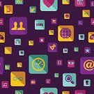 Icon Set,Seamless,Media - Pennsylvania,Social Issues,Pattern,Ilustration,Backgrounds,Vector