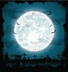 Full Moon,Moon,Bat - Animal,Sky,Night,Ilustration,Fog,Cloud - Sky,all saints day,Grave,Grunge,Cultures,Cross Shape,Horror,Cemetery,Flying,Eps10,Dark,Blue,Abstract,Black Color,Vector,Image,Halloween,October,Rest In Peace,Holiday,Tomb,Cross,Evil,Cloudscape,Tombstone