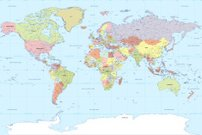 World Map,Map,Cartography,Earth,Vector,River,countries,India,Planet - Space,Europe,USA,China - East Asia,Mediterranean Sea,Pacific Ocean,Indian Ocean,North America,France,Australia,Asia,Lake,Italy,European Union,Oceania,Canada,Japan,Amazon River,Physical Geography,UK,Germany,Brazil,England,Land,Spain,Antarctica,Sea,Korea,Middle East,Atlantic Ocean,Africa,Isolated On White,South America,Nile River,Russia,Clip Art,Arctic,continents,parallels,meridians