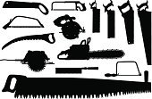 Chainsaw,Pruning Saw,Hand Saw,Silhouette,Black Color,Circular Saw,Electric Saw,Work Tool