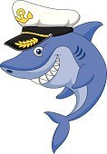 Boat Captain,Jumping,Greeting,Smiling,Fun,Waving,Happiness,Toy,Animals In The Wild,Cheerful,Humor,Cute,Cartoon,Blue,Animal Fin,Shark,Waving,Characters,Vector,Ilustration,Toy Shark,Mascot,Young Animal,Swimming Animal