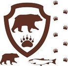 Bear,Brown Bear,Paw Print,Sign,Paw,Vector,Salmon,Mammal,Animal,Symbol,Wildlife,Design Element,Retro Revival,Carnivore,Footprint,Walking,Brown,Old-fashioned