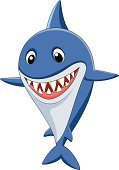 Toy Shark,Shark,Cartoon,Mascot,Fun,Happiness,Jumping,Danger,Hunting,Animals In The Wild,Animal Fin,Waving,Carnivore,Standing,Cheerful,Cute,Sea Life,Characters,Humor,Blue,Vector,Young Animal,Smiling,Swimming Animal,Ilustration,Waving