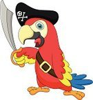 Pirate,Happiness,Cheerful,Pets,Ilustration,Vector,Mascot,Cartoon,Cute,Posing,Parrot,Costume,Traditional Clothing,Fur,Multi Colored,Characters,Playful,Looking At Camera,Poultry,Bird,Stage Costume,Humor,Fun,Standing,Playing,Flying,Smiling