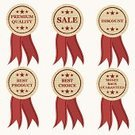 Vector,Retail,Ribbon,Set,Old-fashioned,Selling,Sale,Insignia,Label