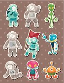 Space,Astronaut,Characters,Astronomy,Vector,Group Of People,Travel,Mid-Air,Science,Set,Discover,Symbol,Planet - Space,Single Object,People,Drawing - Activity,Collection,Nature,Technology,Earth,Style,Isolated,Flying,Label,Monster,Cartoon,Alien,Mars,Cute,Ilustration